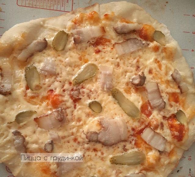 Пицца с грудинкой в духовке