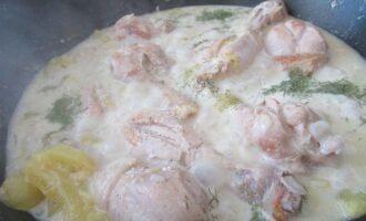 Укроп к курице в сметане