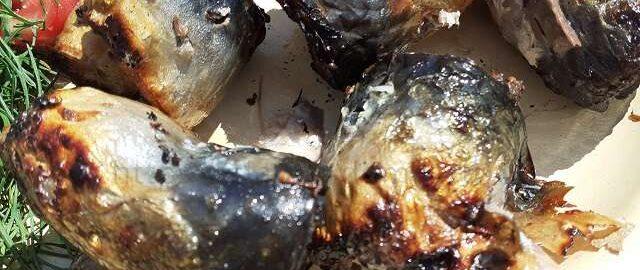 Скумбрия на шампурах