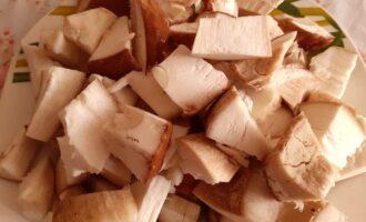 Измельченные белые грибы