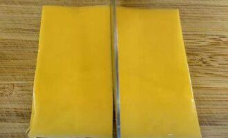 плавленный сыр на 2 части